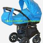 Универсальная коляска Aneco Venezia цвет бирюза с узором
