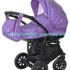 Универсальная коляска Aneco Venezia цвет фиолетовый в сердца