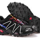 Кроссовки Salomon Speedcross 3 - черно-белые