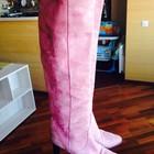 vero cuoio оригинал розовые сапожки натуральная замша Италия, 38 размер