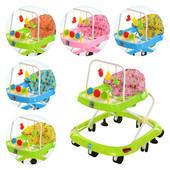 Детские ходунки Joy музыкальные с тормозом 3 цвета