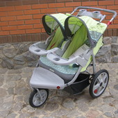 коляска для двойни США оригинал Instеp Safari Jogger