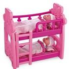 Кроватка для кукол двухярусная