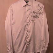 рубашка шелковая 48 L нарядная