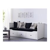 В наличии кушетка, кровать, софа, диван раскладной с 3 ящиками для белья Hemnes