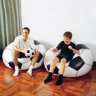 Надувное кресло футбольный мяч Интекс 108х110х66см (Intex 68557)