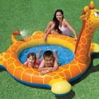 Детский надувной бассейн с фонтанчиком жираф Интекс 229х56 см!ХИТ!
