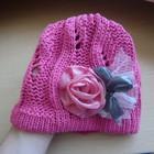 Красивая шапочка для девочки 4-5 лет