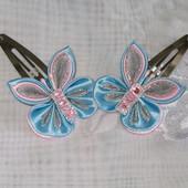 Заколки-метелики ручної роботи