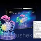 Пазлы 3D 9048А кристалл Зодиак рак светящ., 45 дет., в кор. 18*13*7см