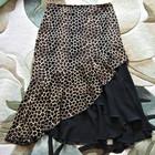 Нарядная шифоновая длинная юбка с леопардовым принтом.Р-р:52