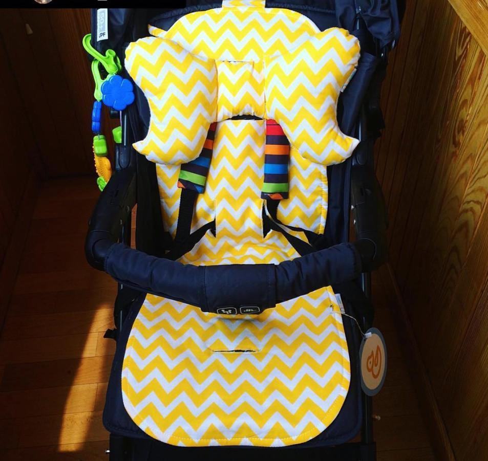 Летний вкладыш в прогулочную коляску simple + подушка pillow (4 цвета) фото №1