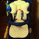 Летний вкладыш в прогулочную коляску Simple + Подушка Pillow (4 цвета)