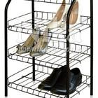 Этажерка для обуви ЭТ2 разборная на 4 полки. Основа - металлокаркас.  Размеры (ВхШхГ) 700х465х300 мм