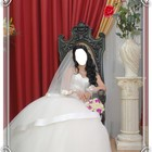 Красивое модное свадебное платье.