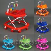 Детские ходунки  с подвесными игрушками 992