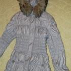 Фирменный женский пуховик 100% пух-перо, натуральный мех на 42-44 р, S,M