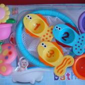 Игрушка для ванной, для купания. Рыбки, сочек, формочки.