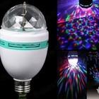 Вращающаяся разноцветная диско лампа