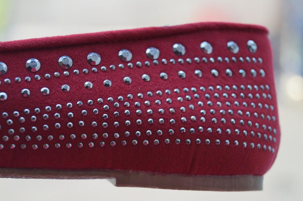 Туфли, мокасины, балетки новые женские красные размер 40 фото №9