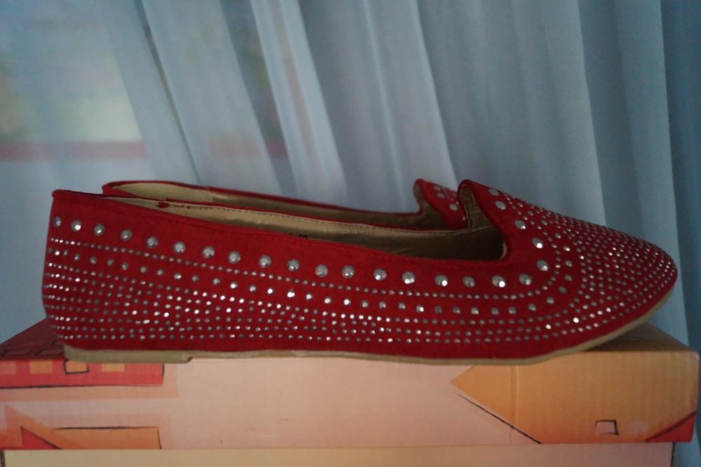 Туфли, мокасины, балетки новые женские красные размер 40 фото №1