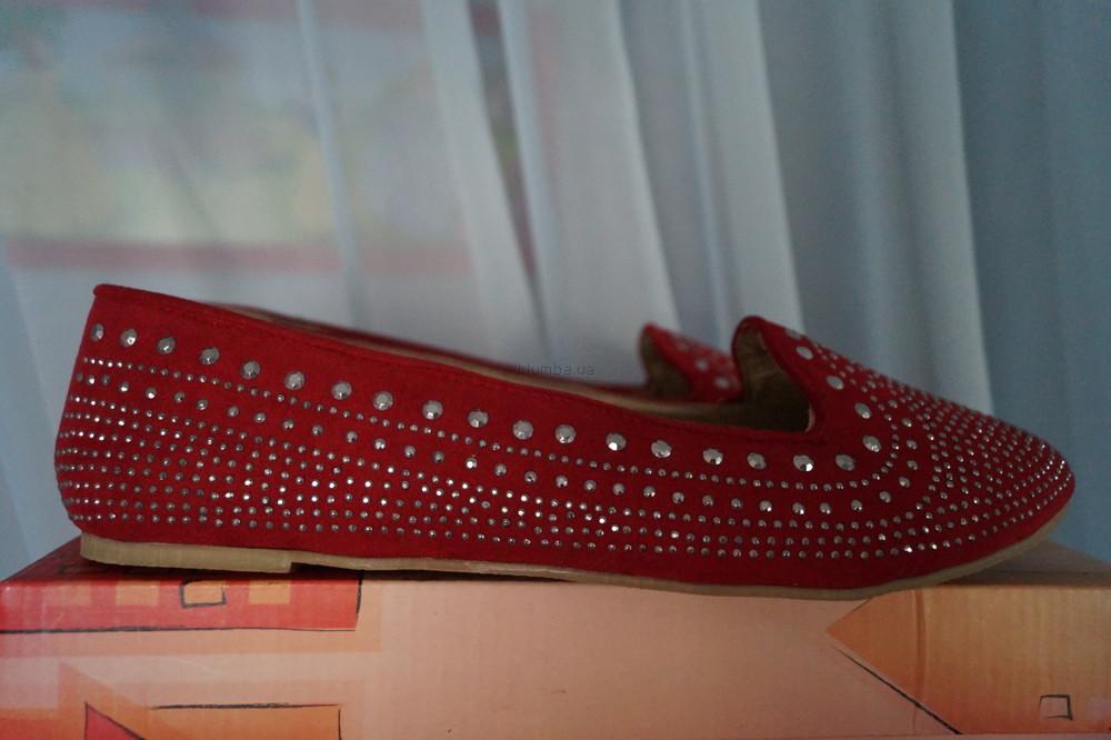 Туфли, мокасины, балетки новые женские красные размер 40 фото №2