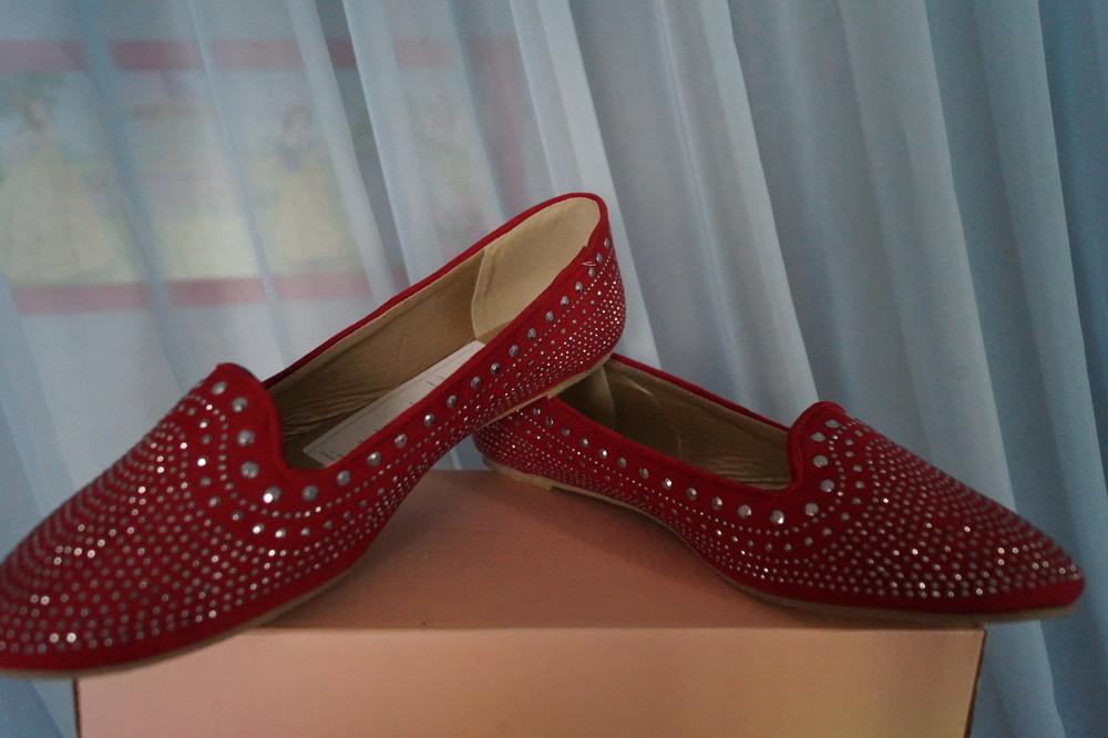 Туфли, мокасины, балетки новые женские красные размер 40 фото №3