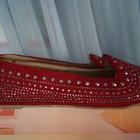 Туфли, мокасины, балетки новые женские красные размер 40