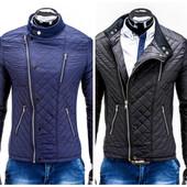 Стеганая мужская весенняя куртка косуха