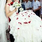 Продам шикарное шифоновое свадебное платье