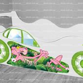 Кровать машина Розовая Пантера ✿ Бесплатная доставка