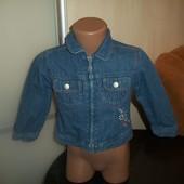 Mini mode Джинсовая курточка на подкладке на 2-3 года Mini mode