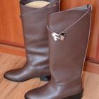 Продам итальянские кожаные сапоги HERMES