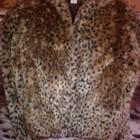 Крутой леопардовый полушубок