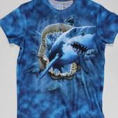 Стильная 3D футболка с живыми акулами