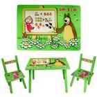 Детский столик два стульчика Маша и Медведь M 0295