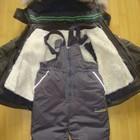 Костюмы для мальчиков на овчине куртка + полукомбинезон.