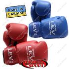 Боксерские перчатки (кожзам) 8oz, 10 oz, 12 oz красные, синие