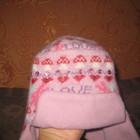 теплая шапочка для девочки 1-2 года