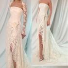 Весільне плаття з шлейфом + болеро