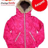 Куртка демисезонная подростковая для девочек с капюшоном на 9-12 лет, бренд «Yigga» (Германия)