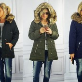 Женская куртка-парка больших размеров