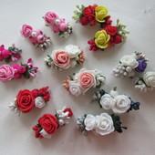 Весенние заколочки с розами. В наличии!