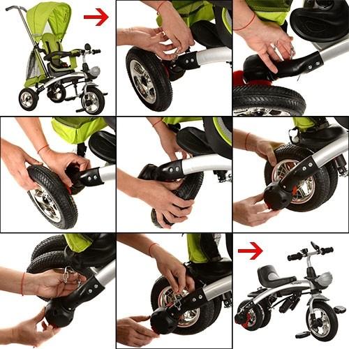Трехколесный велосипед - беговел турбо трайк м3212 turbo trike надувные кол фото №14