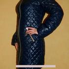 Очень красивое зимнее стеганное женское пальто - пуховик на силиконе