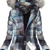 Женская зимняя теплая куртка пуховик