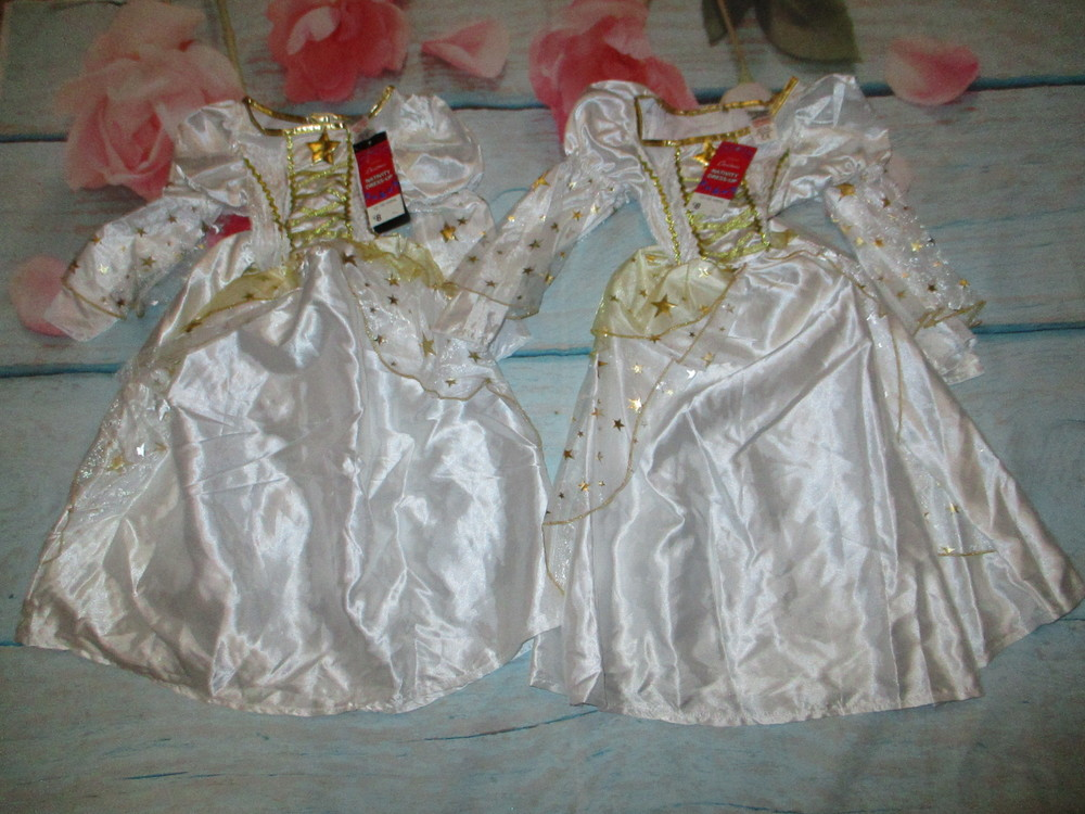Новое платье 12-18мес на новый год.для близняшек. звёздочка,снежинка. фото №1