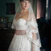 Свадебное платье с французским кружевом Anne Marie