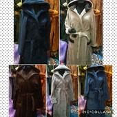 Зимний красивый турецкий мужской теплый махровый халат