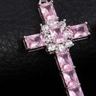 Шикарный крест с цепочкой позолота 18К